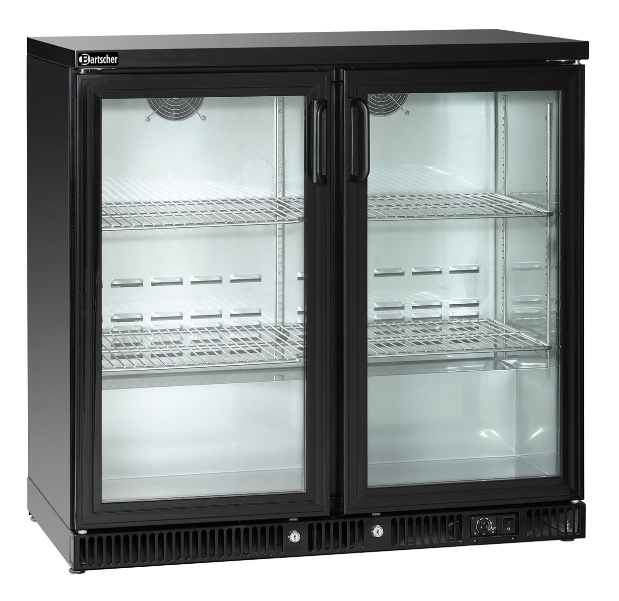 Bartscher Flessenkoeler - 2 deuren - 220 liter - Zwart