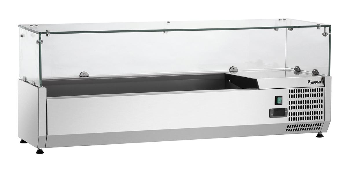 Bartscher Koelopzetvitrine GL4 5x 1/4GN - 120 cm