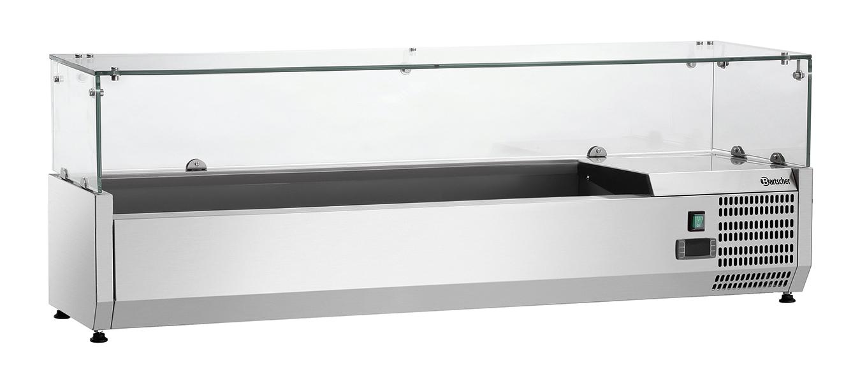 Bartscher Koelopzetvitrine GL4 6x 1/4GN - 140 cm