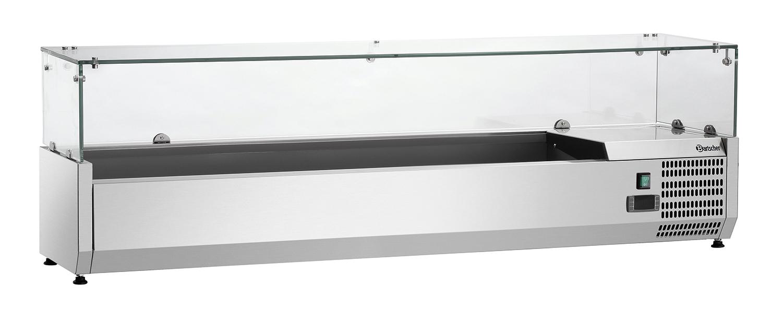 Bartscher Koelopzetvitrine GL4 7x 1/4GN - 150 cm
