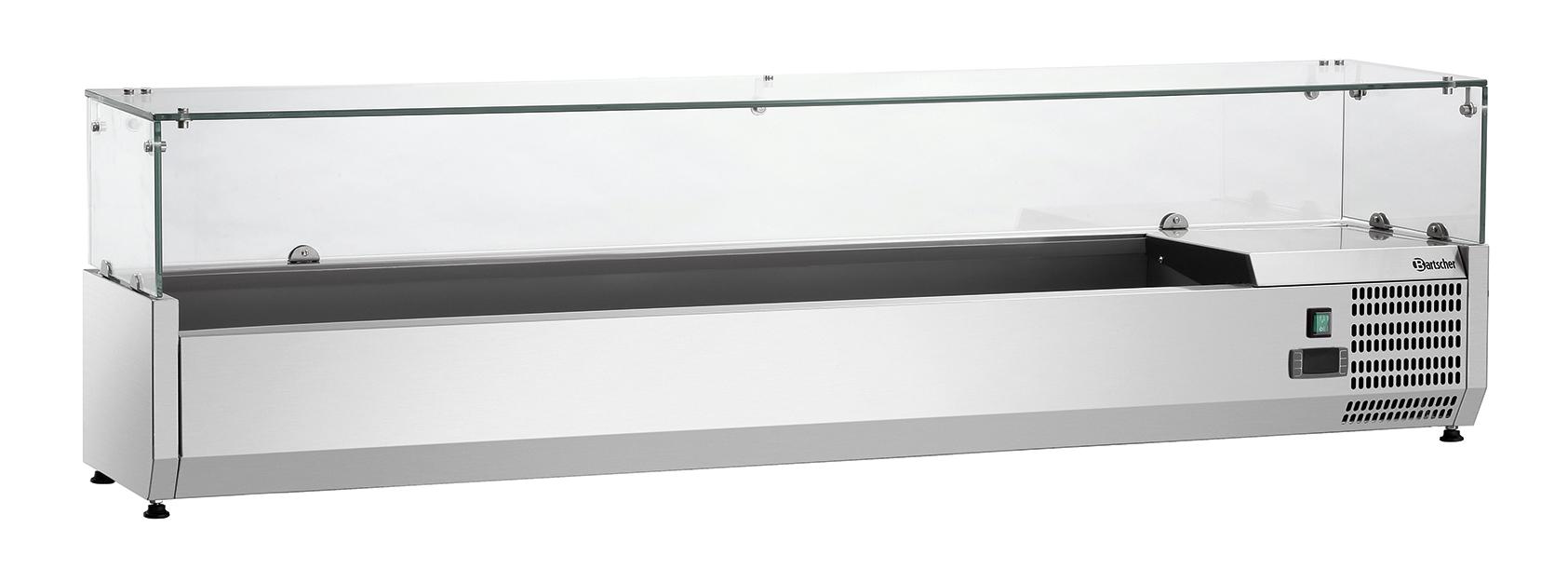 Bartscher Koelopzetvitrine GL4 8x 1/4GN - 180 cm