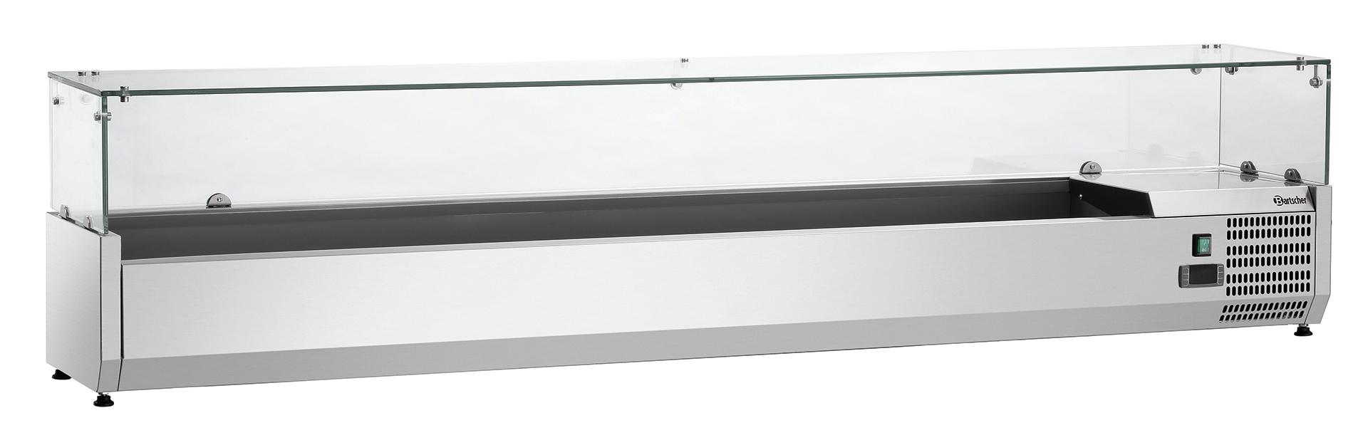 Bartscher Koelopzetvitrine GL4 10x 1/4GN - 200 cm
