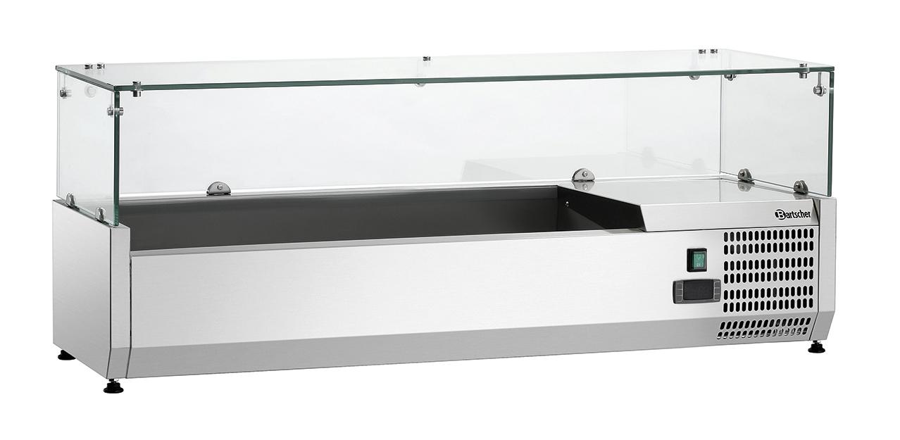 Bartscher Koelopzetvitrine GL3 3x 1/3 + 1x 1/2GN - 120 cm