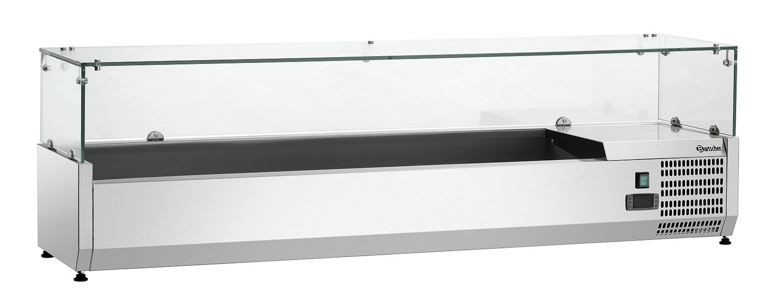 Bartscher Koelopzetvitrine GL3 5x 1/3 + 1x 1/2GN - 150 cm