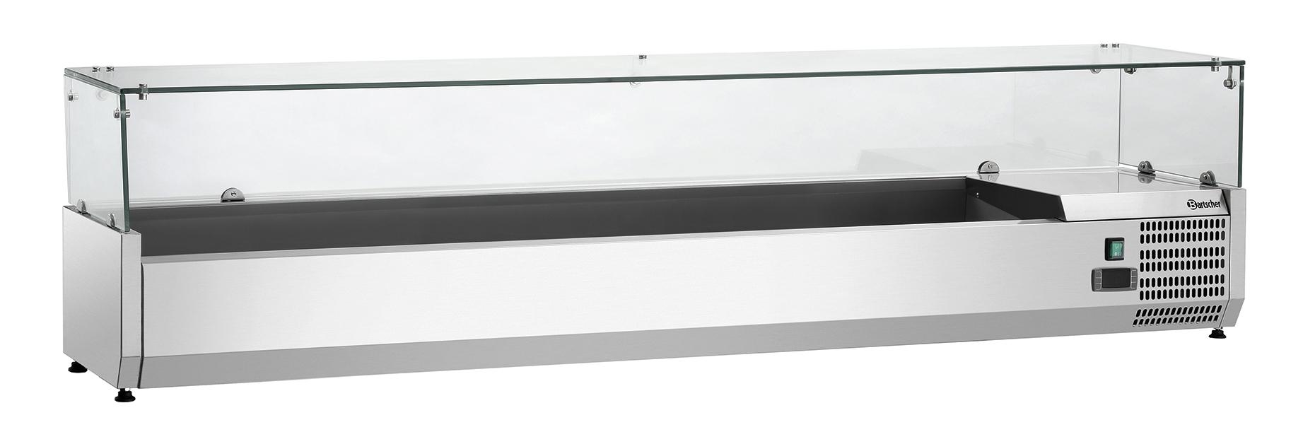 Bartscher Koelopzetvitrine GL3 8x 1/3GN - 180 cm