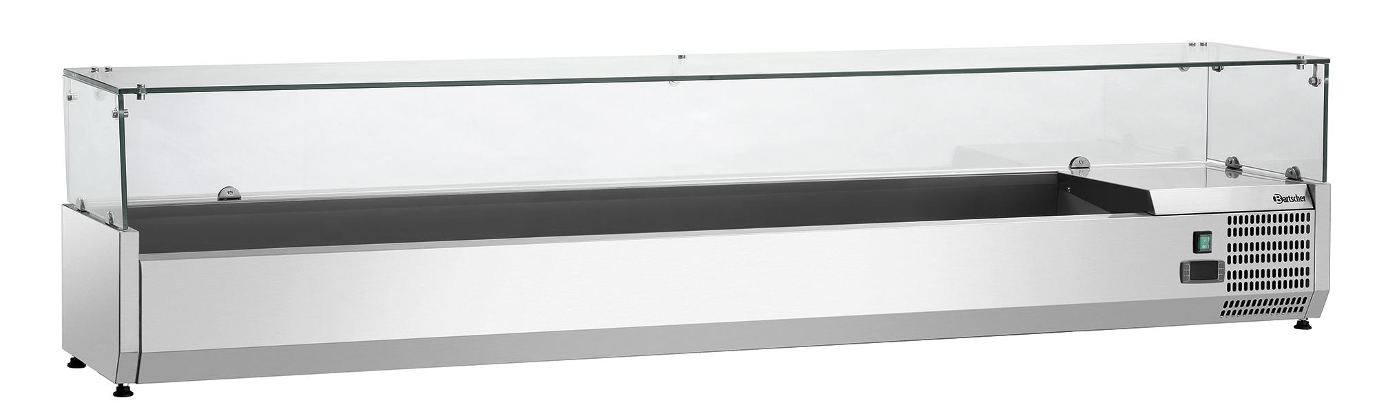 Bartscher Koelopzetvitrine GL3 9x 1/3GN - 200 cm