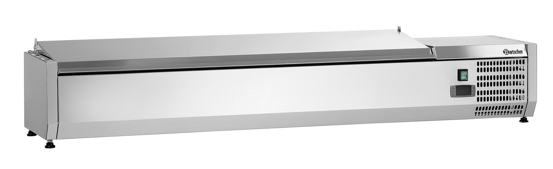 Bartscher Koelopzetvitrine ED 7x 1/4GN - 150 cm