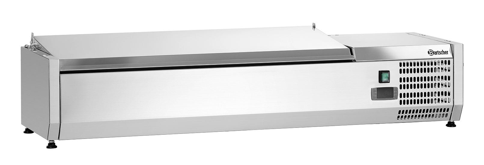 Bartscher Koelopzetvitrine ED 3x 1/3GN + 1x 1/2GN - 120 cm