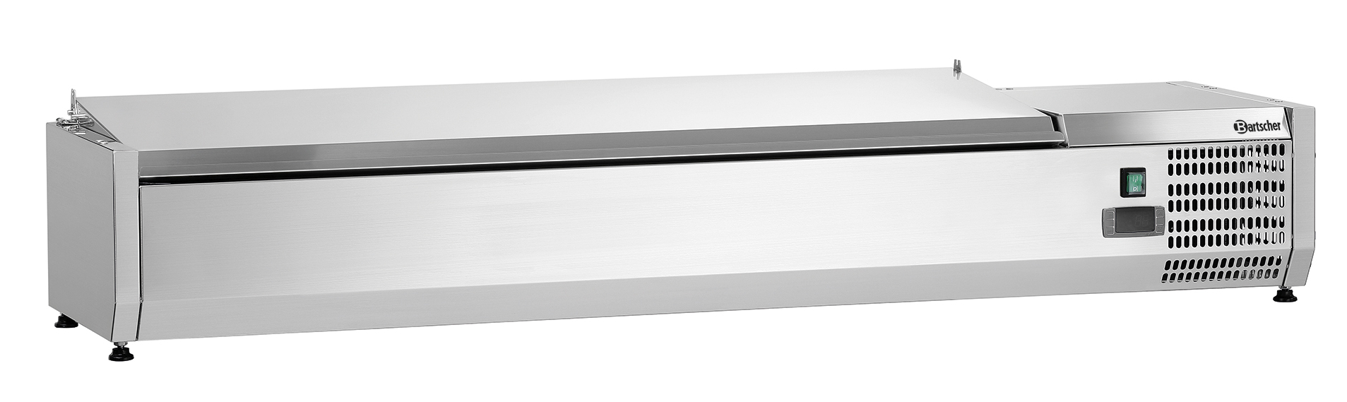Bartscher Koelopzetvitrine ED 5x 1/3GN + 1x 1/2GN - 150 cm