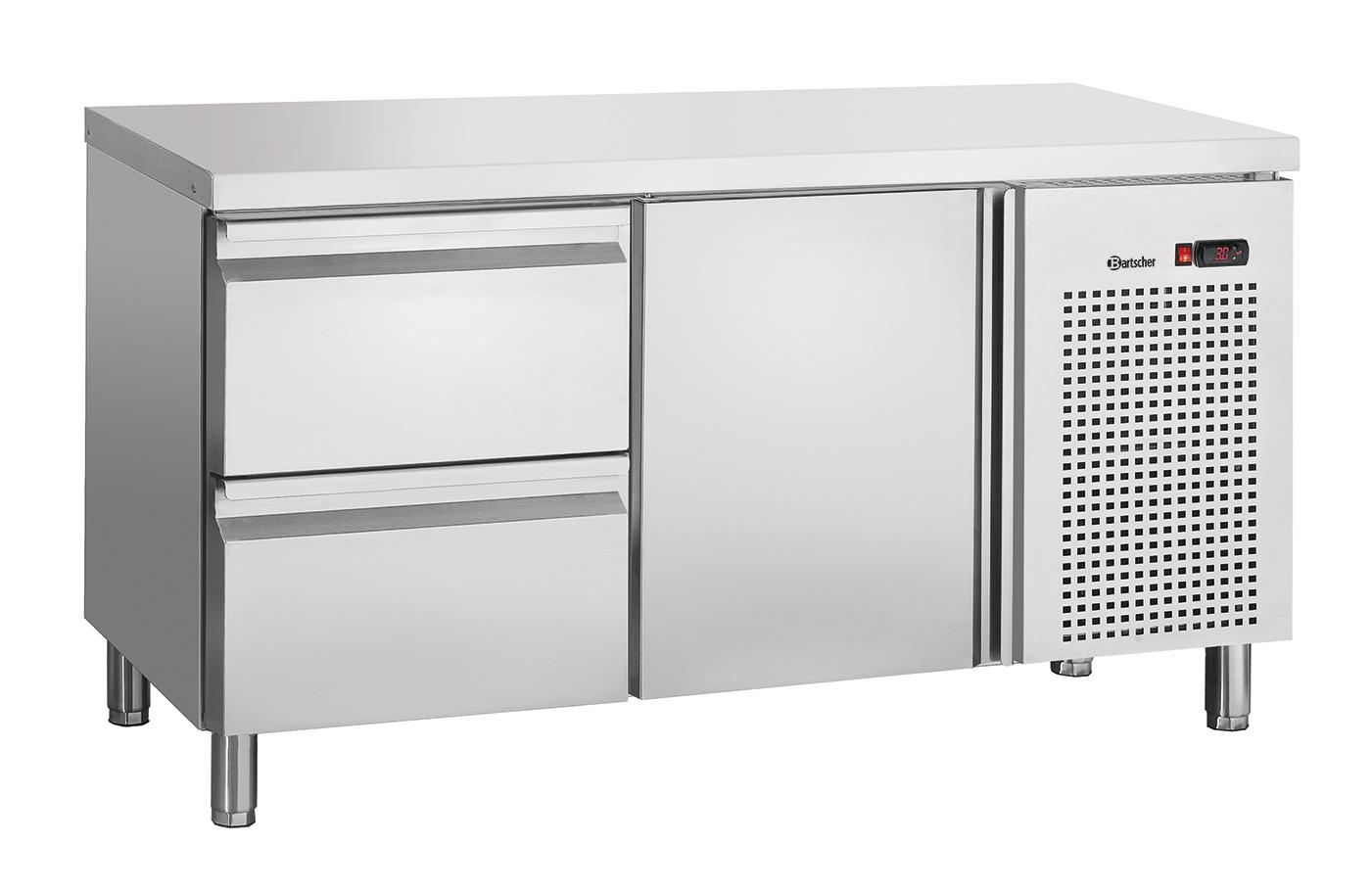 Bartscher Koeltafel S2T1-150 - 1 Deur / 2 Lades - 134 x 70 x 85 cm - RVS