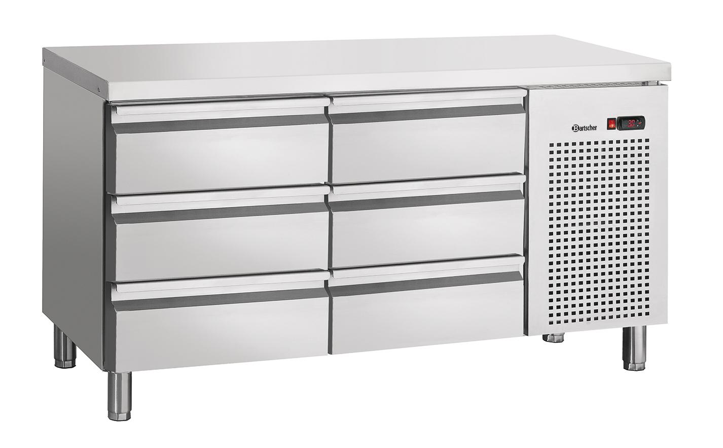 Bartscher Koeltafel S6-100 - 6 Lades - 134 x 70 x 85 cm - RVS