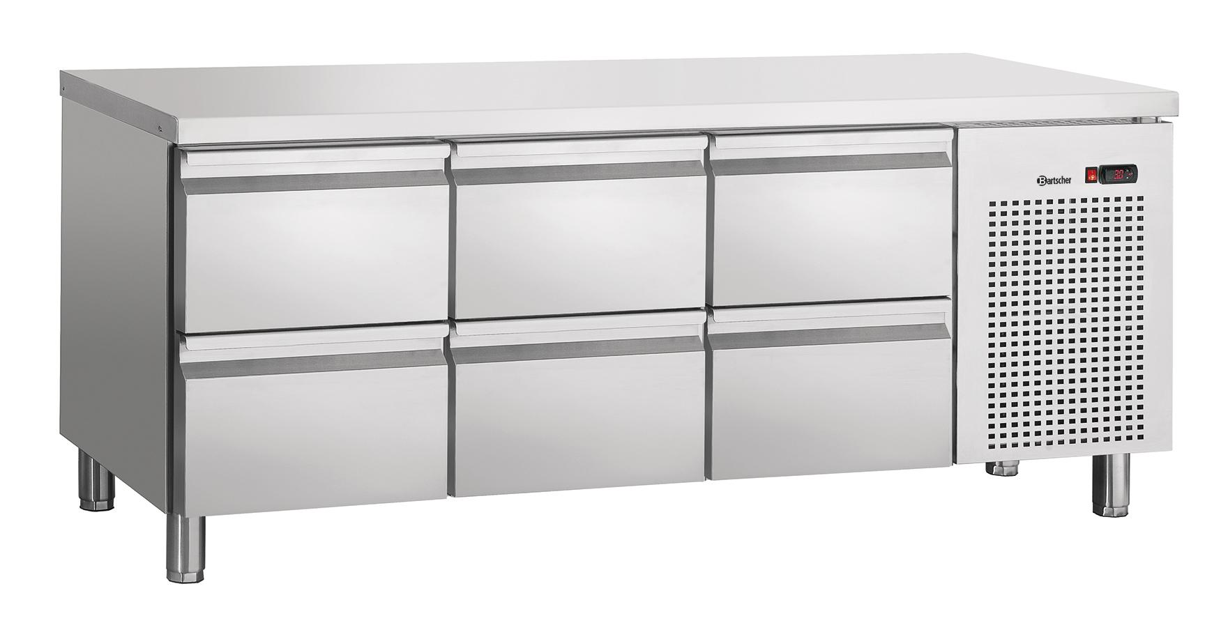 Bartscher Koeltafel S6-150 - 6 Lades - 179 x 70 x 85 cm - RVS