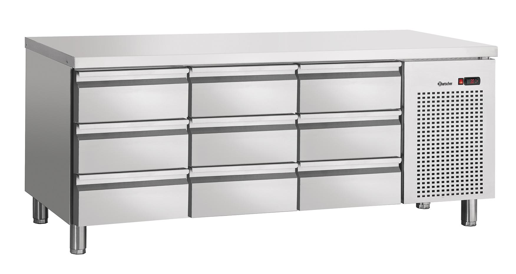Bartscher Koeltafel S9-100 - 9 Lades - 179 x 70 x 85 cm - RVS