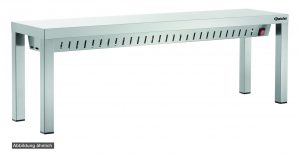 Bartcher Warmtebrug WBS1600 - 3 Infrarood lampen - 1600 mm