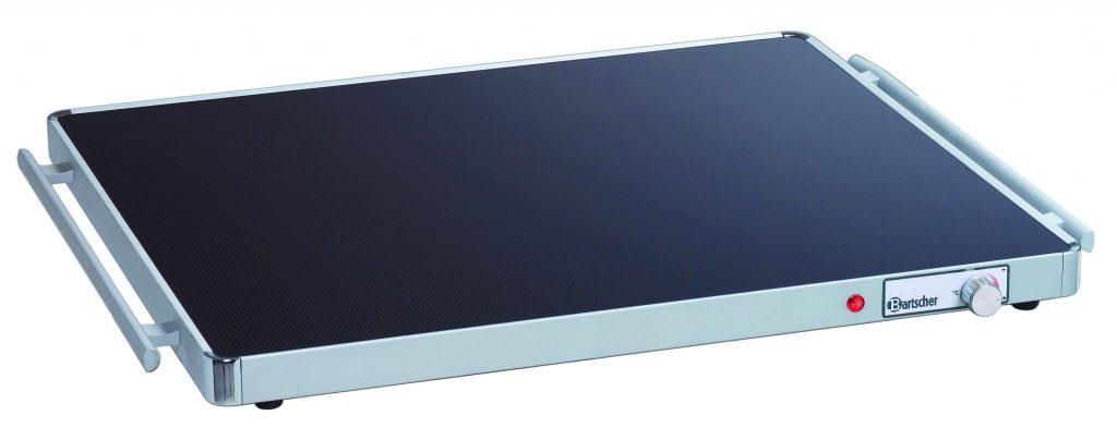 Bartcher Warmhoudplaat WP300 Electrisch - 0,3 kW - Glas - 2/1 GN - 666 mm