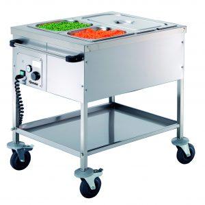 Bartcher Voedseltransportwagen - 2x 1/1 GN - Droog verwarmd