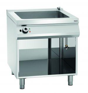 Bartcher Au-bain-Marie pan electrisch - 2x 1/1GN - 2x 1/3GN - 800 mm - Open Ombouw + af- & toevoerkraan