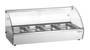 Bartscher Hete opzetvitrine R4 4x 1/3 GN - 46 liter - Zilver