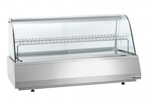 Bartscher Koelvitrine 3/1 GN - Rond - 165 liter - Zilver