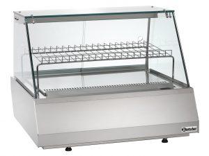 Bartscher Koelvitrine 2/1 GN - Recht - 110 liter - Zilver