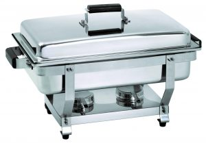 Bartcher Chafing Dish - 1/1GN, 65 mm diep - greep houtdecor