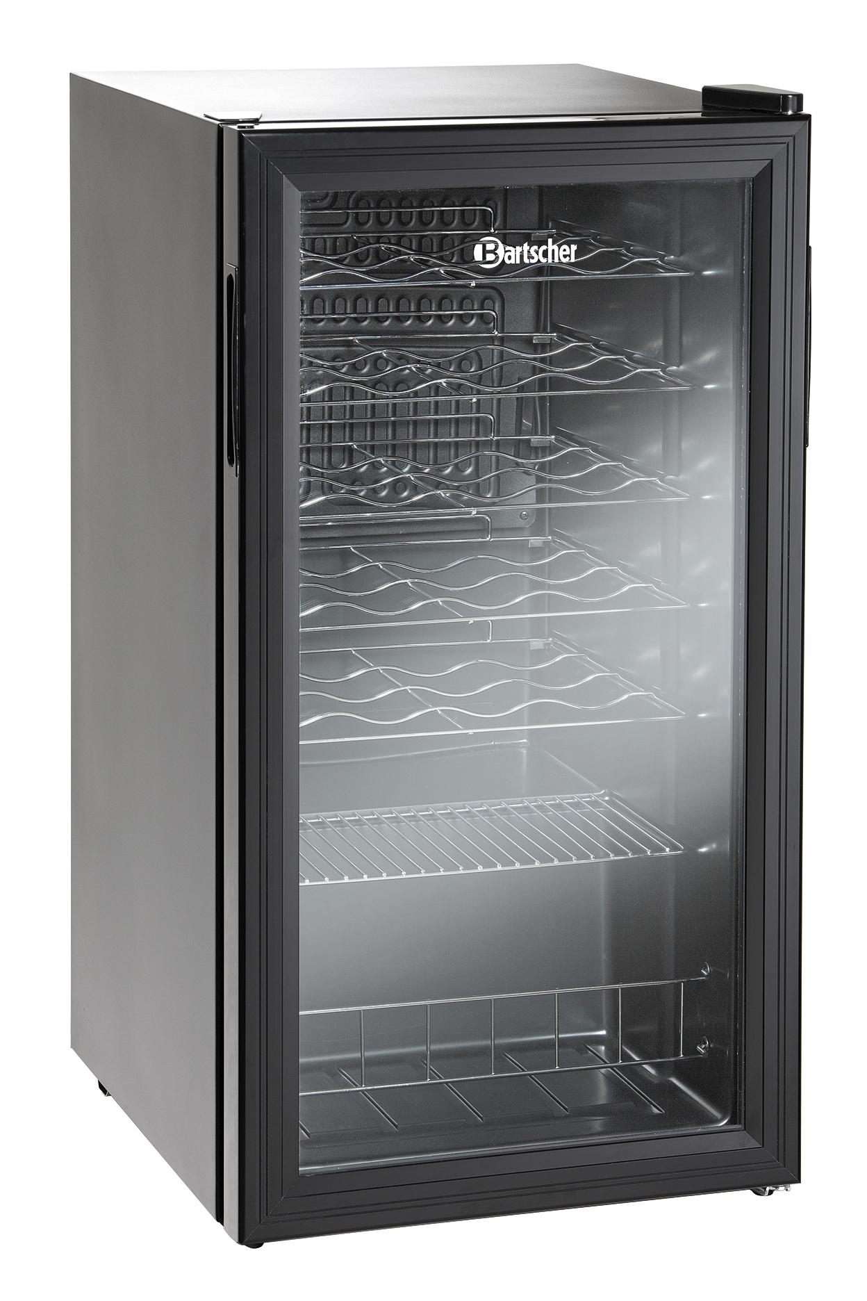 Bartscher Flessenkoelkast 28FL - Glasdeur - 88 liter - Zwart