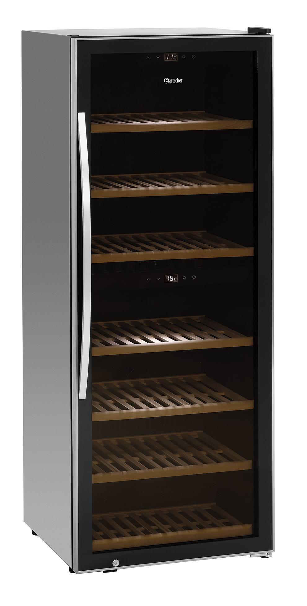 Bartscher Wijnkoelkast 2 Zones 126FL - 313 liter - Zwart