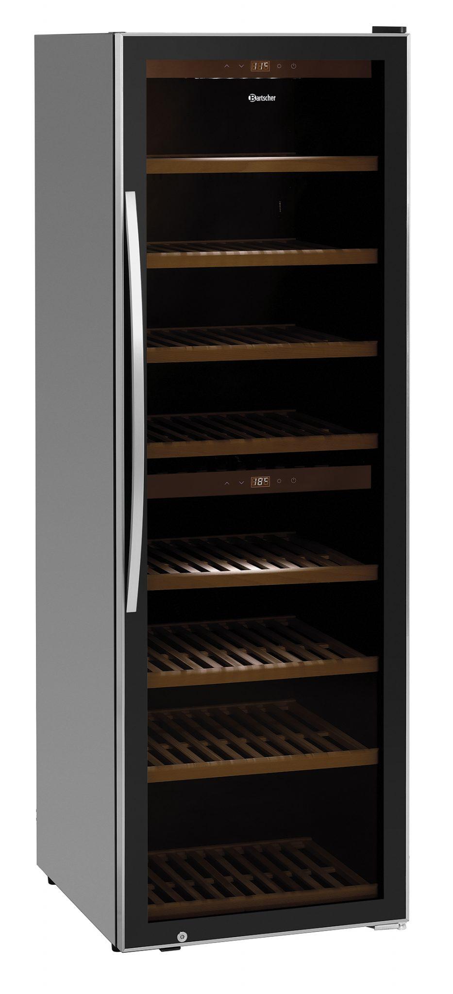 Bartscher Wijnkoelkast 2 Zones 180FL - 453 liter - Zwart