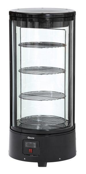 Bartscher Gebaksvitrine - 72 liter - Zwart