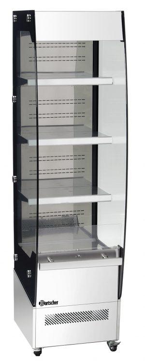 Bartscher Wandkoelvitrine Rimi - 220 liter - Zilver / Zwart