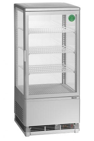 Bartscher Mini-koelvitrine - 78 liter - Zilver